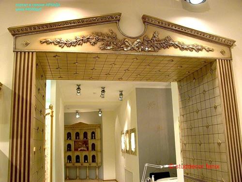 Декор дверного проема с дверью